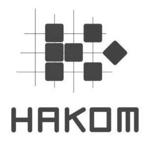 hakom logo grayscale